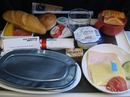 Repas Air France (Le Caire-Paris)